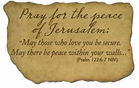 Image result for the blessing of jersualem