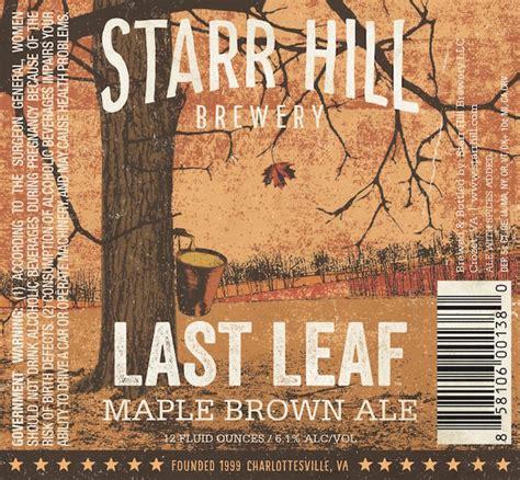 Image result for starr hill last leaf