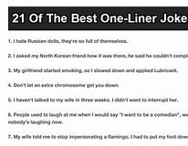 Image result for What Is One liner Joke?. Size: 206 x 160. Source: onmogul.com