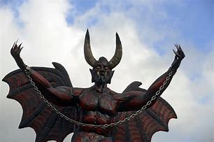 Image result for images of statue of satan