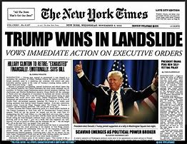 Image result for images of headline trump wins