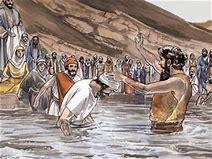 Image result for John baptized many in the jordan river