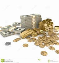 Image result for Free Picture of stacks of Money and Gold. Size: 190 x 204. Source: dreamstime.com