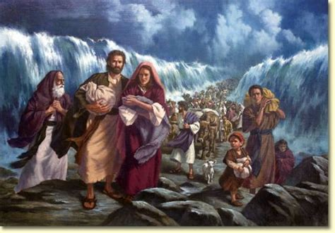 Image result for pharoah and his chariots trap the israelites at the red sea