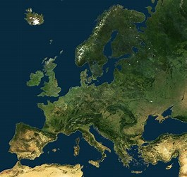 Image result for Europe from Space