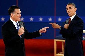 Image result for images of obama-romney debate
