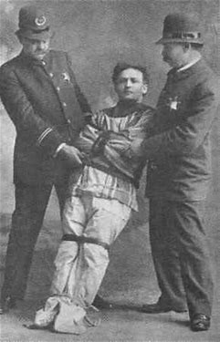 Image result for images of houdini escaping from straitjacket