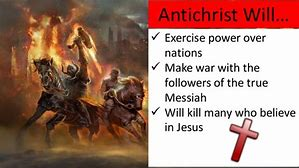 Image result for Antichrist, making war with the saints