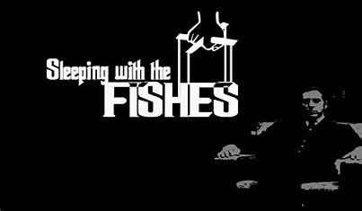 Image result for sleeping with the fishes images