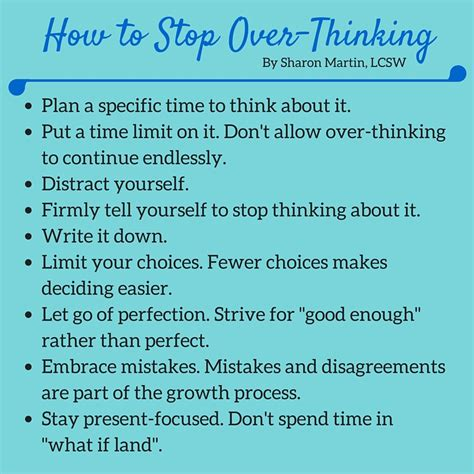 Image result for how to stop overthinking by sharon martin
