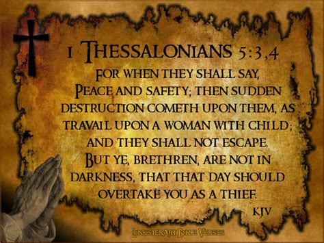 Image result for the bible when they say peace and saftey