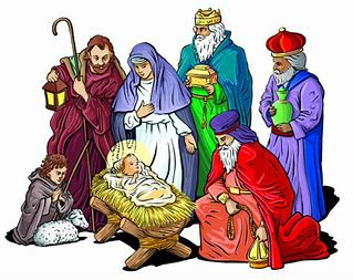 Image result for religious blessing of the crib clip art