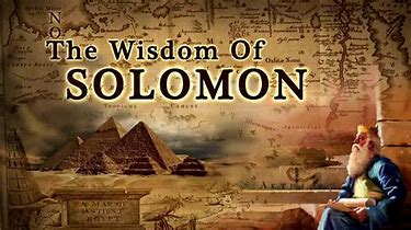 Image result for Solomon's wisdom