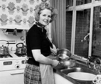 Image result for margaret thatcher in kitchen images