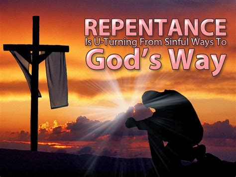 Image result for Repentance is the goal