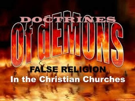 Image result for doctrines of demons in the church today