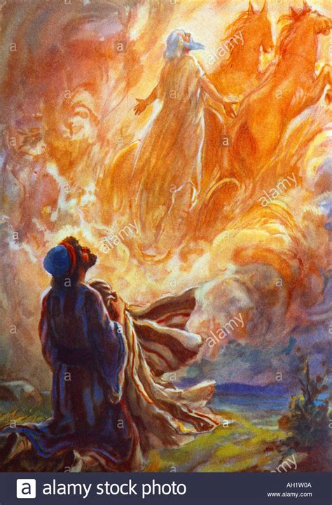 Image result for elijah taken up in a chariot of fire