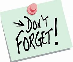 Image result for don't forget clip art