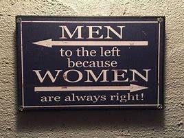 Bildergebnis für men on left women are always right sign