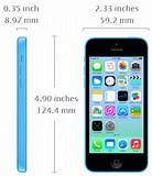 Image result for iPhone 5C Size. Size: 138 x 160. Source: todayontech.com
