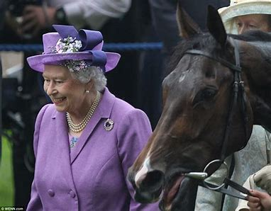 Image result for hm the queen at the horse races images