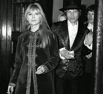 Image result for mick jagger and marianne faithfull images