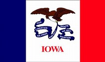 Image result for Iowa Flag