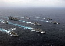 Image result for Ronald Reagan and Nimitz Carrier Strike groups