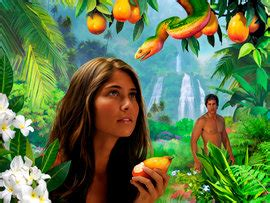Image result for adam and eve were deceived in the garden in the bible