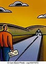 Image result for free Clip Art of End of the road. Size: 72 x 100. Source: clipground.com