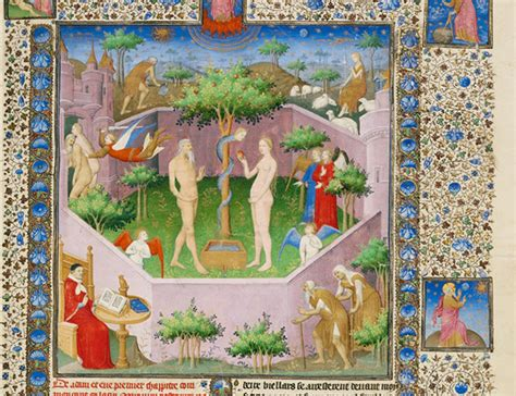 Image result for images adam and eve garden of eden medieval paintings