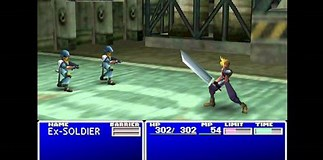 Image result for FF7 Battle. Size: 323 x 160. Source: www.youtube.com