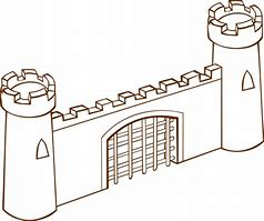 Image result for free clip art of a fortress