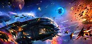 Image result for Space Battle Wallpaper. Size: 184 x 88. Source: www.wallpaperup.com