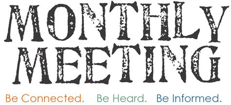 Image result for monthly meeting