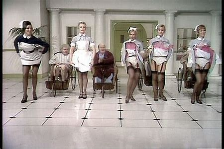 Image result for benny hill chasing nurses images