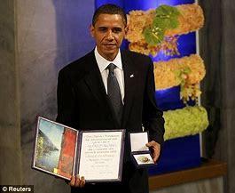 Image result for barack obama nobel peace prize