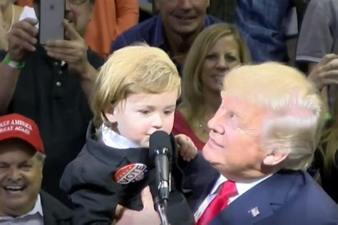 Image result for toddler at trump rally