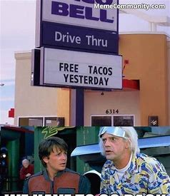 Image result for Back to the Future Meme