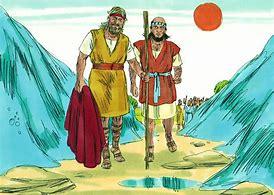 Image result for Elijah and Elisha walking to the Jordan River