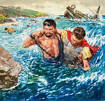 Image result for Paul and the Barbarians on the island of Mellta in the Bible