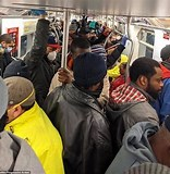 Image result for overcrowded Train