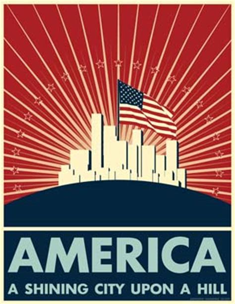 Image result for images ronald reagan image shining city on a hill