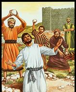 Image result for stephen gets stoned to death by saul in the bible