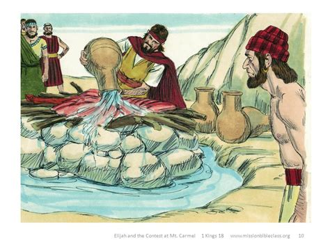 Image result for elijah made sure the alter was drenched in water