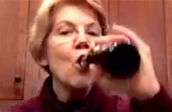 Image result for elizabeth warren drinking beer