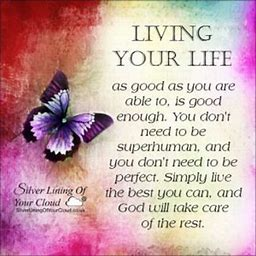 Image result for live life the best you can and let god take care of the rest