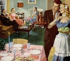 Image result for images 50s dinner party