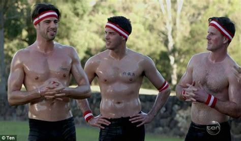 Shirtless boys wrestling-icfalide