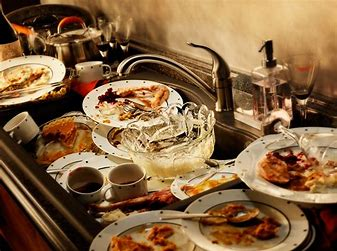 Image result for images of dirty dishes